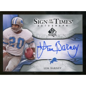 2009 Upper Deck SP Authentic Sign of the Times #STBA Lem Barney Autograph