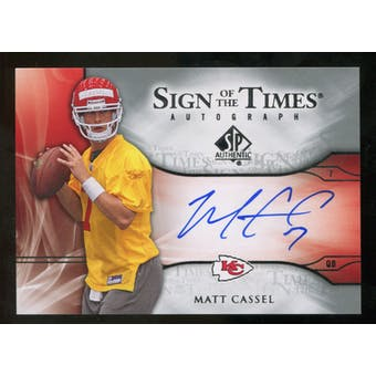 2009 Upper Deck SP Authentic Sign of the Times #STMC Matt Cassel Autograph