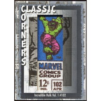 2012 Upper Deck Marvel Premier Classic Corners #CC7 Incredible Hulk (vol. 1) #102 D
