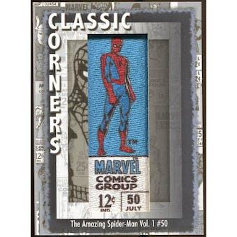 2012 Upper Deck Marvel Premier Classic Corners #CC8 The Amazing Spider-Man #50 D