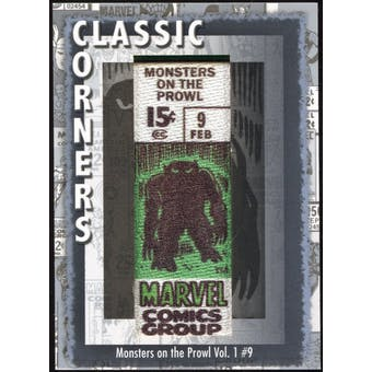 2012 Upper Deck Marvel Premier Classic Corners #CC18 Monsters on The Prowl #9 D