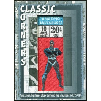 2012 Upper Deck Marvel Premier Classic Corners #CC22 Amazing Adventures/ Black Bolt and The Inhumans #10 C