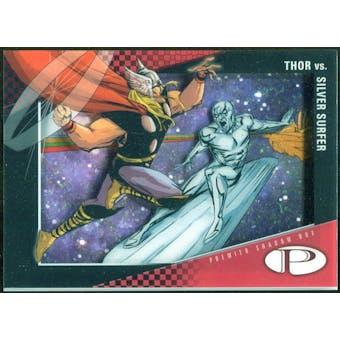 2012 Upper Deck Marvel Premier Shadowbox #S18 Silver Surfer/Thor D