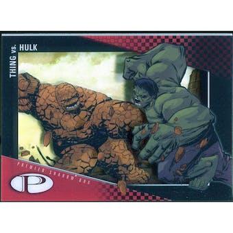 2012 Upper Deck Marvel Premier Shadowbox #S22 Thing/Hulk D