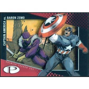 2012 Upper Deck Marvel Premier Shadowbox #S23 Captain America/Baron Zemo C