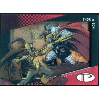 2012 Upper Deck Marvel Premier Shadowbox #S32 Thor/Loki D