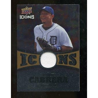2009 Upper Deck Icons Icons Jerseys Gold #CA Miguel Cabrera /25