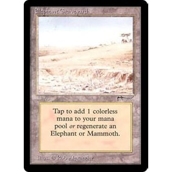 Magic the Gathering Arabian Nights Single Elephant Graveyard - MODERATE PLAY plus (MP+)