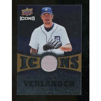 2009 Upper Deck Icons Icons Jerseys Gold #VE Justin Verlander /25