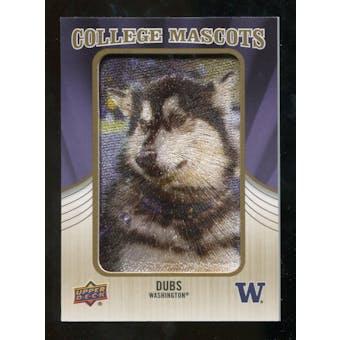 2013 Upper Deck College Mascot Manufactured Patch #CM63 Dubs D