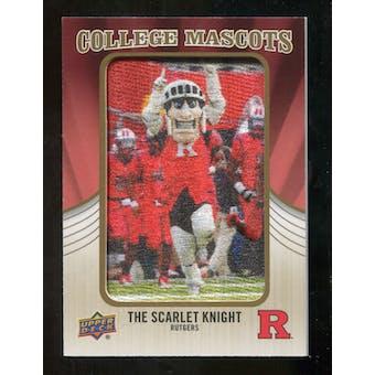 2013 Upper Deck College Mascot Manufactured Patch #CM82 Scarlet Knight D