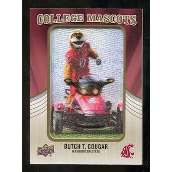 2013 Upper Deck College Mascot Manufactured Patch #CM88 Butch T. Cougar D