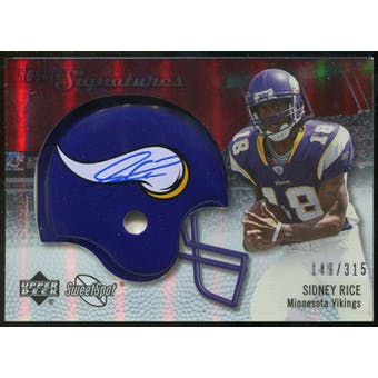 2007 Upper Deck Sweet Spot #139 Sidney Rice RC Autograph /315
