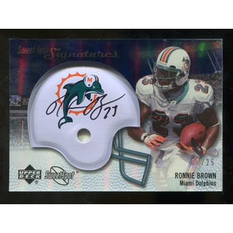 2007 Upper Deck Sweet Spot Signatures Silver #BR2 Ronnie Brown /25