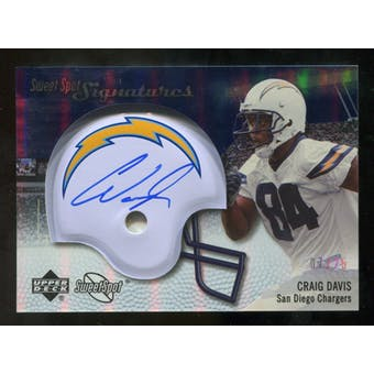 2007 Upper Deck Sweet Spot Signatures Silver #CD2 Craig Buster Davis /25