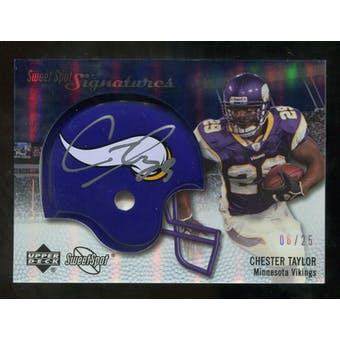 2007 Upper Deck Sweet Spot Signatures Silver #CT2 Chester Taylor /25