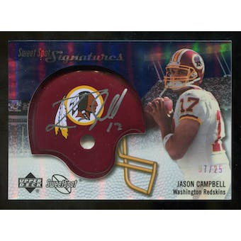 2007 Upper Deck Sweet Spot Signatures Silver #JC2 Jason Campbell /25