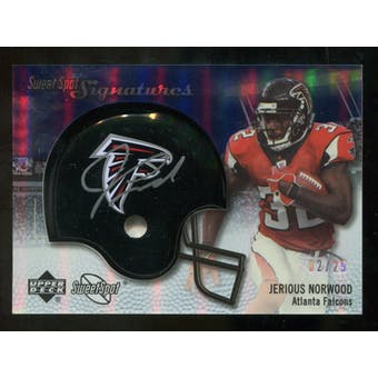 2007 Upper Deck Sweet Spot Signatures Silver #JN2 Jerious Norwood /25