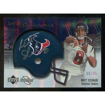 2007 Upper Deck Sweet Spot Signatures Silver #MS2 Matt Schaub /25