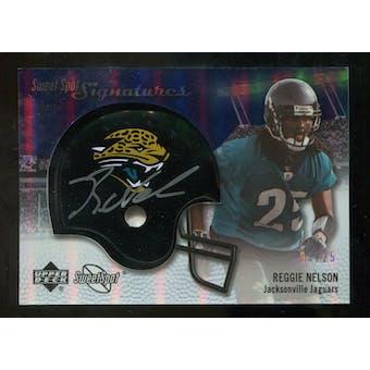 2007 Upper Deck Sweet Spot Signatures Silver #RN2 Reggie Nelson /25