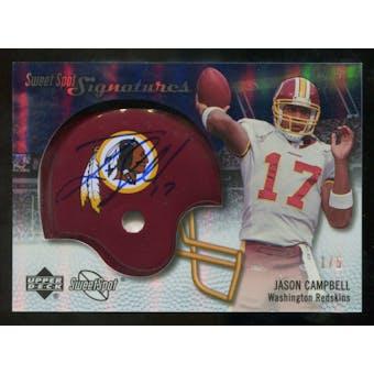 2007 Upper Deck Sweet Spot Signatures Gold #VJC Jason Campbell /5