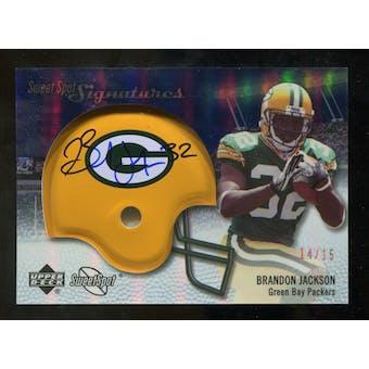 2007 Upper Deck Sweet Spot Signatures Gold #VBJ Brandon Jackson /15