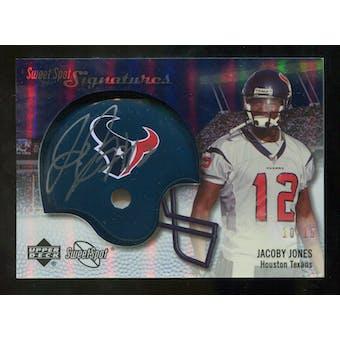 2007 Upper Deck Sweet Spot Signatures Gold #VJJ Jacoby Jones /15