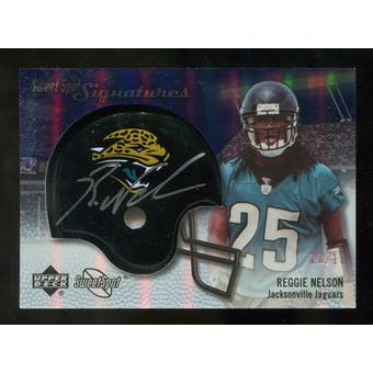 2007 Upper Deck Sweet Spot Signatures Gold #VRN Reggie Nelson /15