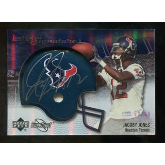 2007 Upper Deck Sweet Spot Signatures Silver #JJ2 Jacoby Jones /49