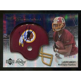 2007 Upper Deck Sweet Spot Signatures Silver #LL2 LaRon Landry /49