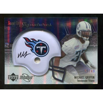 2007 Upper Deck Sweet Spot Signatures Silver #MG2 Michael Griffin /49