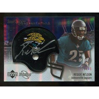 2007 Upper Deck Sweet Spot Signatures Silver #RN2 Reggie Nelson /49