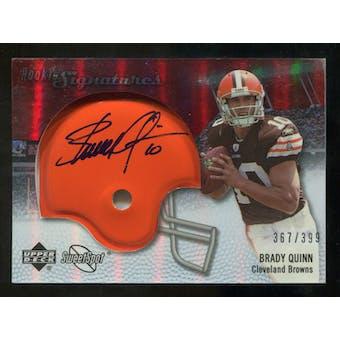 2007 Upper Deck Sweet Spot #134 Brady Quinn RC Autograph /399