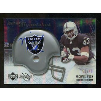 2007 Upper Deck Sweet Spot Signatures Silver #BU2 Michael Bush /49
