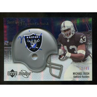 2007 Upper Deck Sweet Spot Signatures Silver #BU2 Michael Bush /49