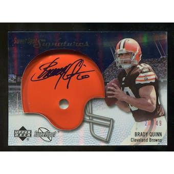 2007 Upper Deck Sweet Spot Signatures Silver #BQ Brady Quinn /49