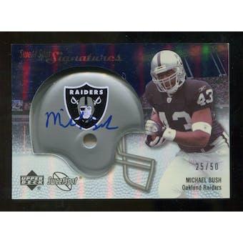 2007 Upper Deck Sweet Spot Signatures Silver #BU Michael Bush /50