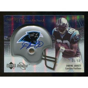 2007 Upper Deck Sweet Spot Signatures Silver #DJ Dwayne Jarrett /50