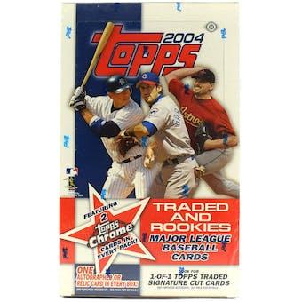 2004 Topps Traded & Rookies Baseball Hobby Box