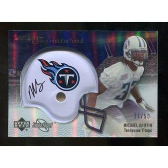 2007 Upper Deck Sweet Spot Signatures Silver #MG Michael Griffin /50