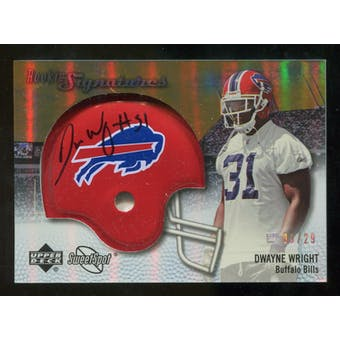 2007 Upper Deck Sweet Spot Rookie Signatures Gold #103 Dwayne Wright /29