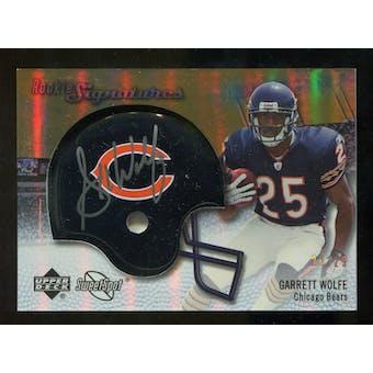 2007 Upper Deck Sweet Spot Rookie Signatures Gold #105 Garrett Wolfe /29