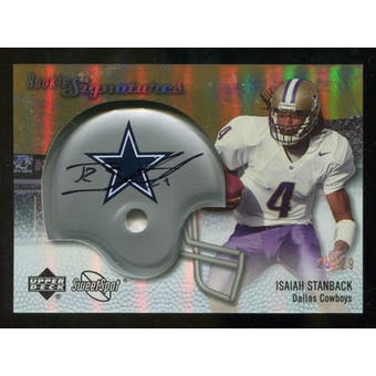 2007 Upper Deck Sweet Spot Rookie Signatures Gold #110 Isaiah Stanback /29