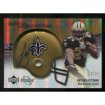2007 Upper Deck Sweet Spot Rookie Signatures Gold #116 Antonio Pittman /29