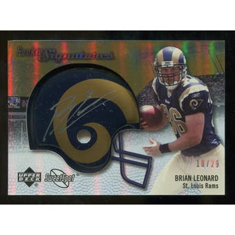 2007 Upper Deck Sweet Spot Rookie Signatures Gold #126 Brian Leonard /29