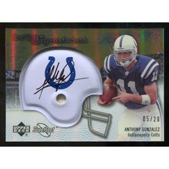 2007 Upper Deck Sweet Spot Signatures Gold #AG Anthony Gonzalez /20