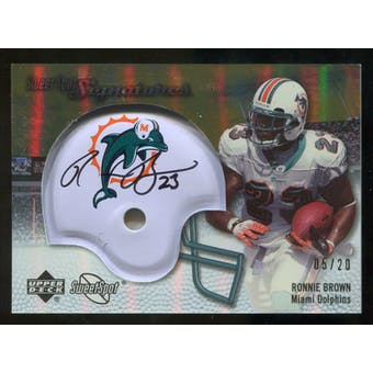 2007 Upper Deck Sweet Spot Signatures Gold #BR Ronnie Brown /20