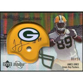 2007 Upper Deck Sweet Spot Signatures Gold #JO James Jones /20