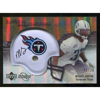 2007 Upper Deck Sweet Spot Signatures Gold #MG Michael Griffin /20