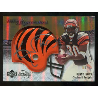 2007 Upper Deck Sweet Spot Rookie Signatures Gold #108 Kenny Irons /15